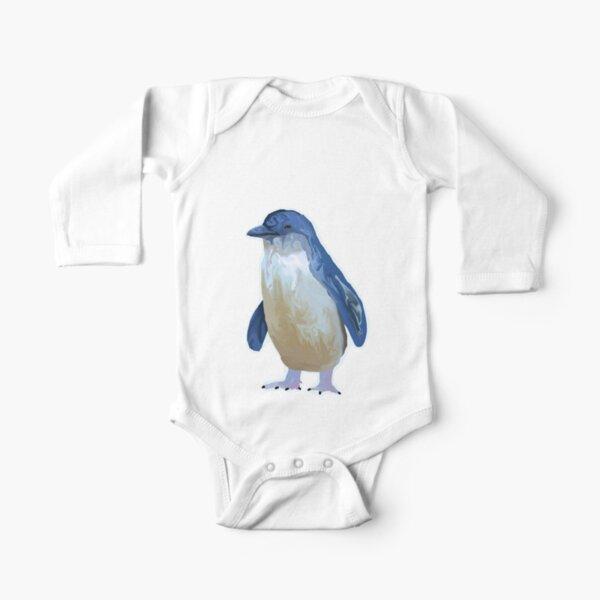 Little Penguin Long Sleeve Baby One-Piece