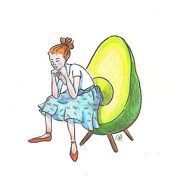 Avocado Chair  by catherinehom