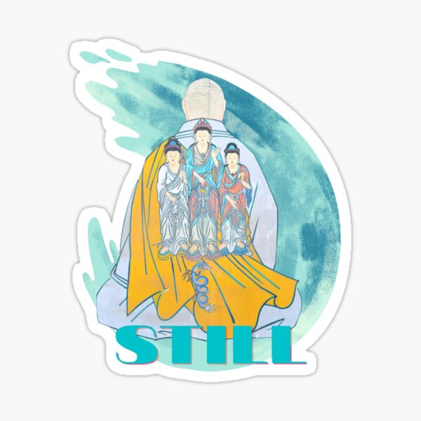 Meditation Stillness Painting, Spiritual Art, Buddhism Wall Art, Mindset is Everything Sticker