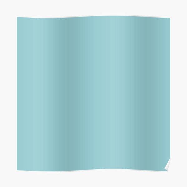 Suave color azul aguamarina    Sombra de color azul liso sólido de ADDUP. Póster