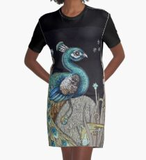Mrs Peacock Graphic T-Shirt Dress