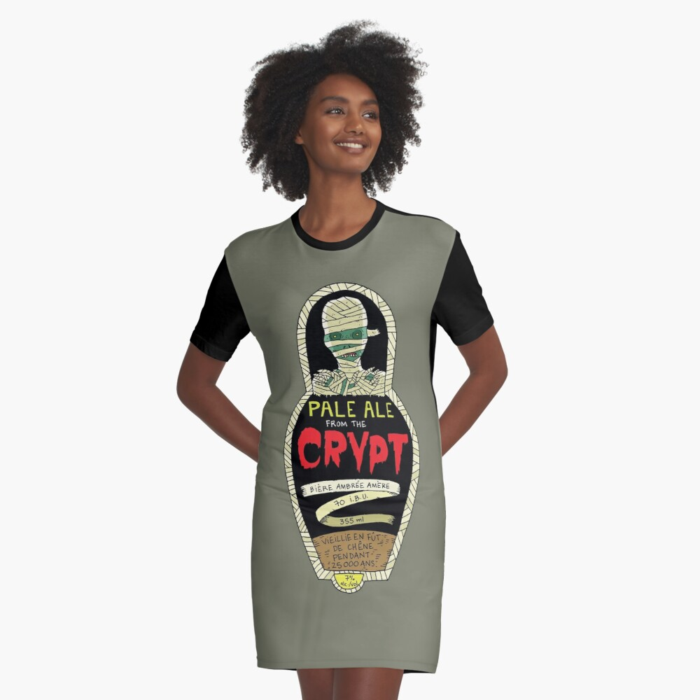 Pale ale from the crypt Graphic T-Shirt Dress Front