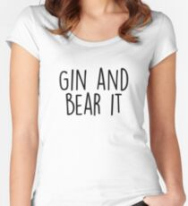 Gin and Bear it Women's Fitted Scoop T-Shirt