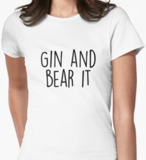 Gin and Bear it Women's Fitted T-Shirt