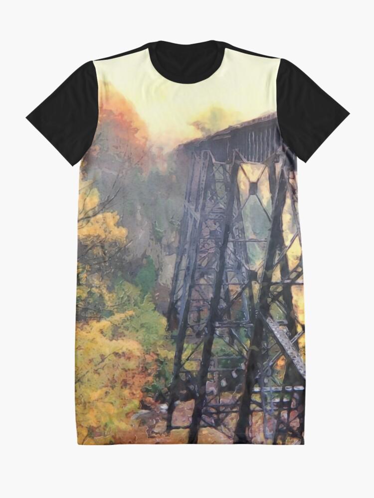 Alternate view of Upper Peninsula Train Trestle Graphic T-Shirt Dress