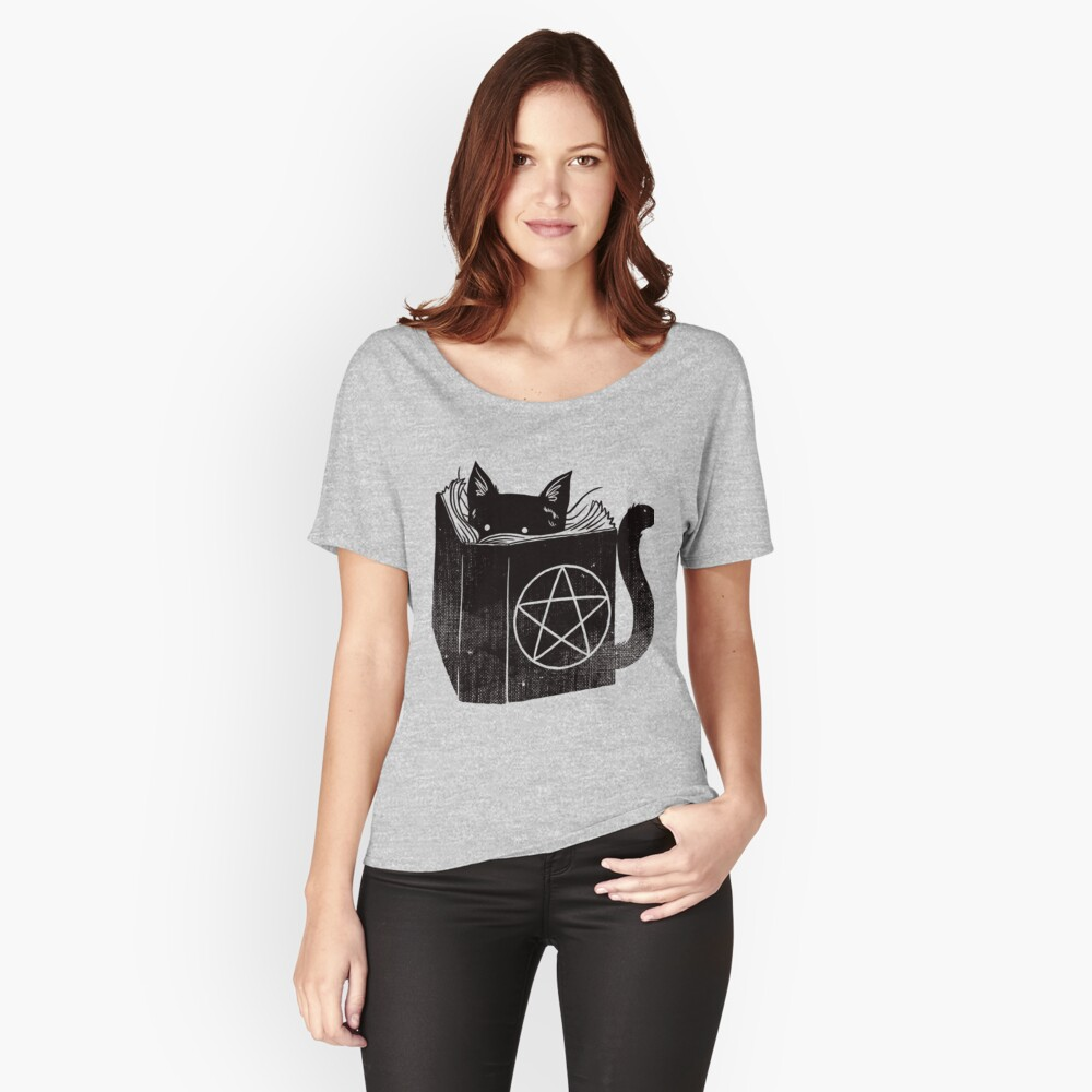 Witchcraft cat - Blue Women's Relaxed Fit T-Shirt Front
