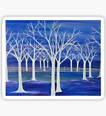 Violet ghosts Sticker