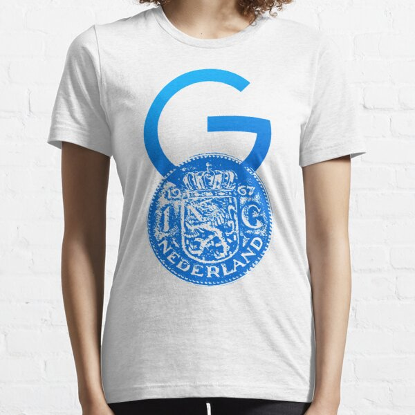 Crypto Gulden symbol with One Guilder coin (blue) Essential T-Shirt