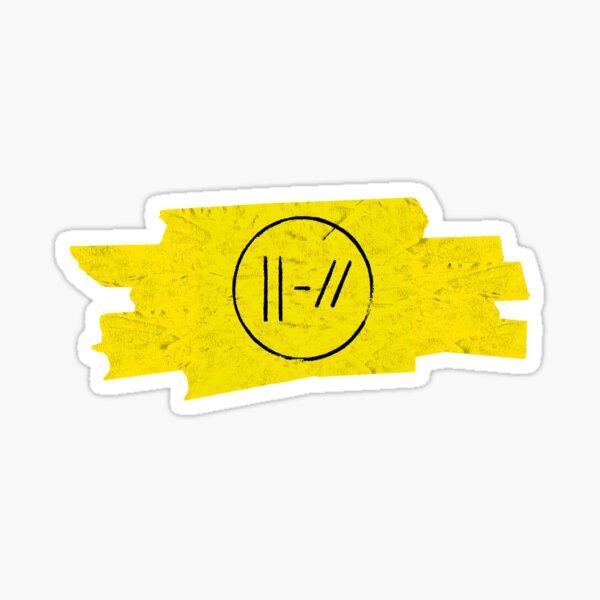 Trench Era Logo with yellow stripes Twenty Øne Piløts Sticker