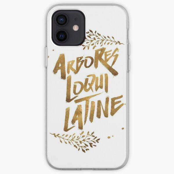 the trees speak latin iPhone Soft Case