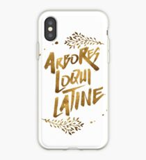 the trees speak latin iPhone Case