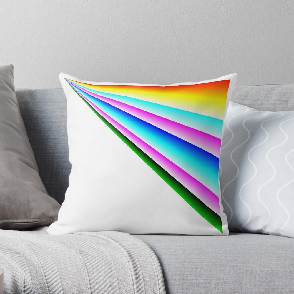 Rainbow Road:  Linear Rainbow  Throw Pillow