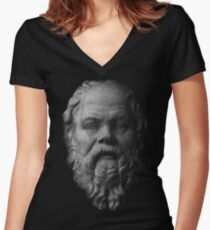 Socrates,     philosopher  Fitted V-Neck T-Shirt