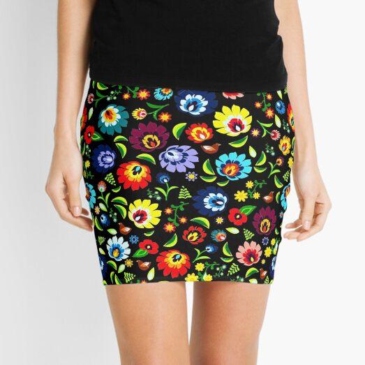 Hungarian Folk Pattern Mini Skirt