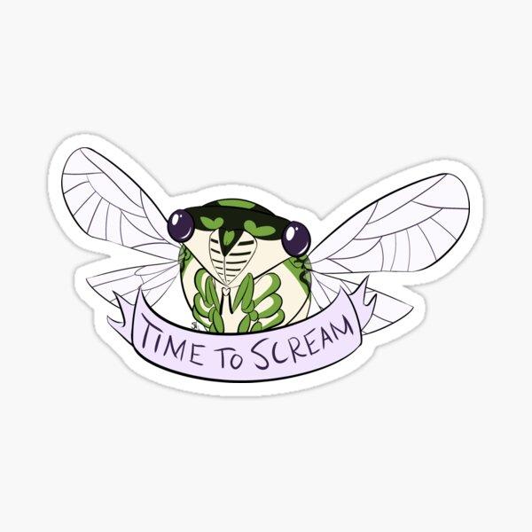 Time To Scream Sticker