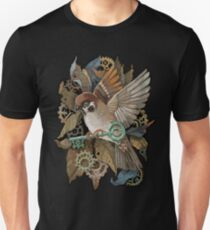 Clockwork Sparrow Unisex T-Shirt