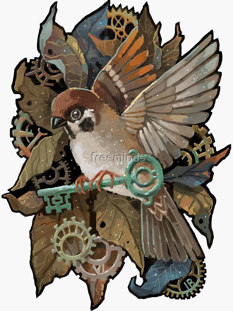 Clockwork Sparrow by freeminds