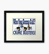 Crime Busters Framed Print