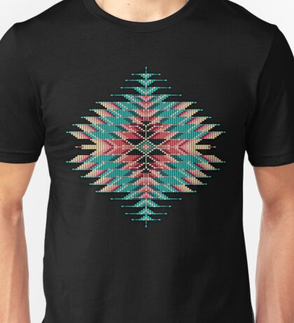Native Style Southwest Beadwork Sunburst Unisex T-Shirt