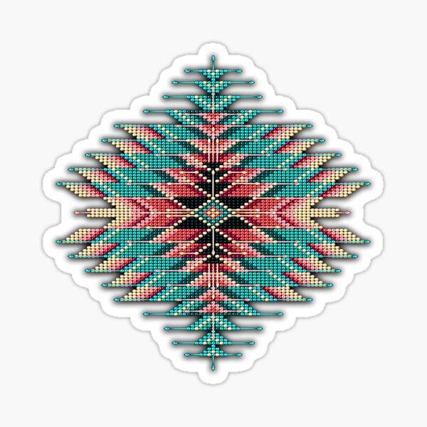 Native Style Southwest Beadwork Sunburst Sticker