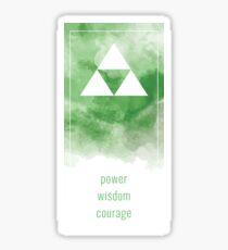 Power Wisdom Courage - Green Sticker