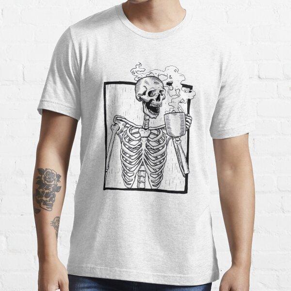 Skull Face Halloween Drinking Coffee Skeleton Skull Shirt Sugar Skull Gift Tee
