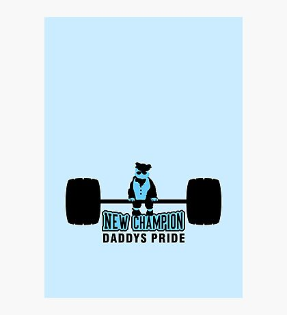 Heavy Baby Weight lifter VRS2 Photographic Print
