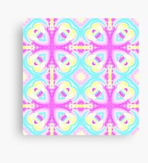 Pastel kaleidoscope design Canvas Print