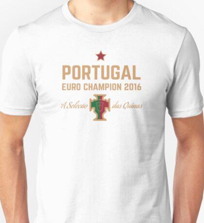 Portugal Euro 2016 Champions T-Shirts etc. ID-1 on White T-Shirt