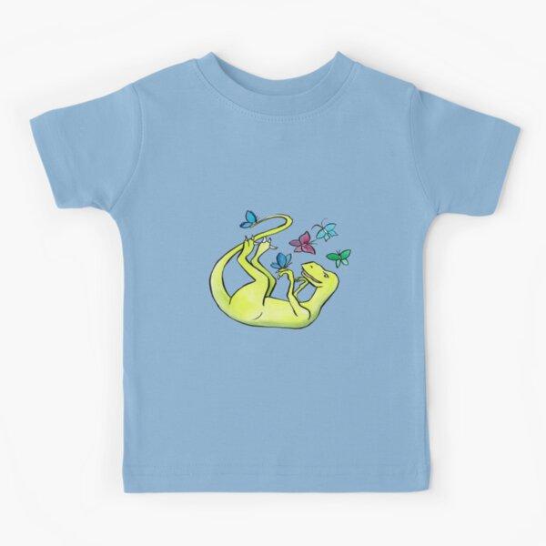 Iss-raaaaah the Velociraptor and the Butterflies Kids T-Shirt