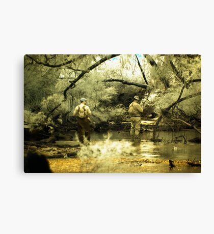 'Where are those fish', Donelly River, Western Australia Canvas Print