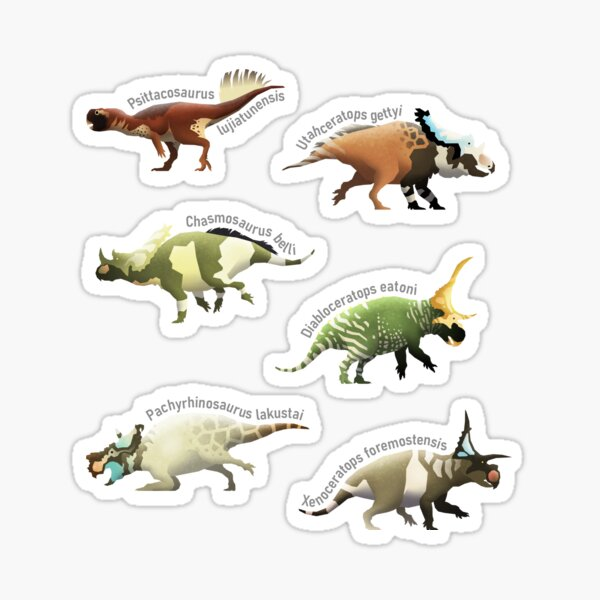 Ceratopsian Series, Sticker Edition Sticker