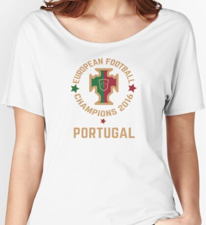 Portugal Euro 2016 Champions T-Shirts etc. ID-3 on White Women's Relaxed Fit T-Shirt