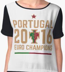 Portugal Euro 2016 Champions T-Shirts etc. ID-2 on White Chiffon Top