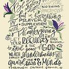 Philippians 4:6-7 : Design 1 by marjoriejackson