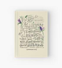 Philippians 4:6-7 : Design 1 Hardcover Journal