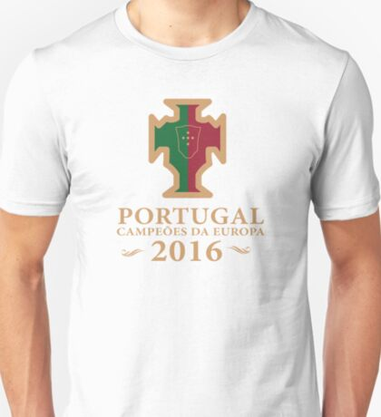 Portugal Euro 2016 Champions T-Shirts etc. ID-4 on White T-Shirt