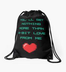 8 Bit Love Drawstring Bag