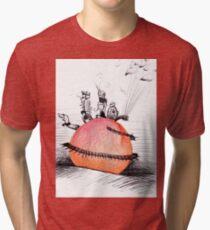 Camiseta de tejido mixto No tan gigante James y The Peach