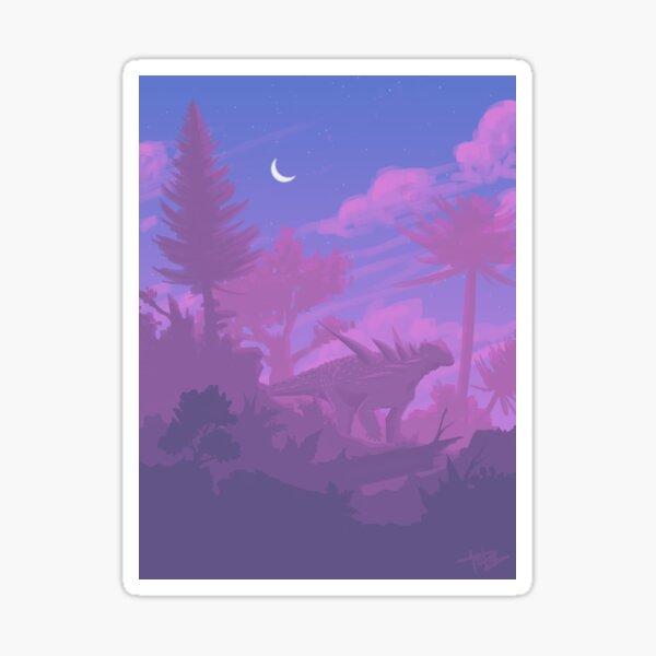 Sauropelta Sunset Sticker