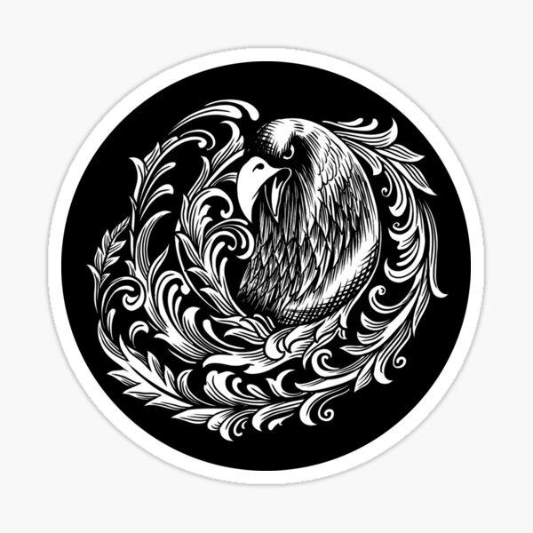Bird, Flower, Design, Art, Illustration Sticker