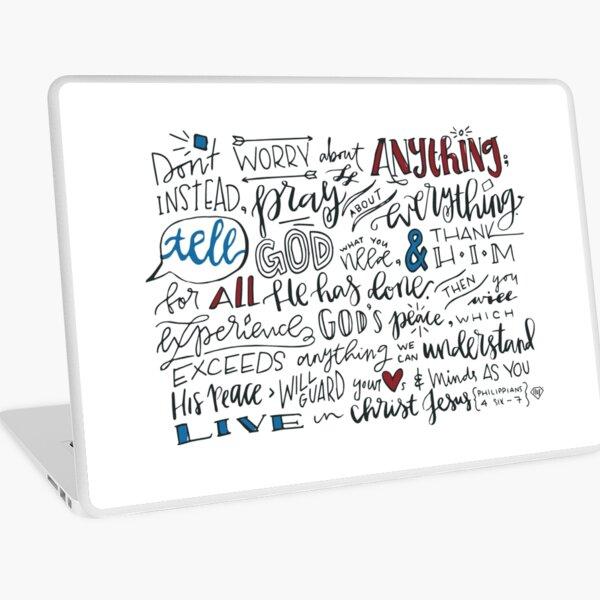 Philippians 4:6-7 NLT : Design 3 Laptop Skin