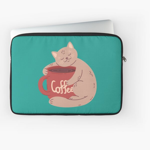 All I need is coffee and my cat Laptop Sleeve