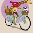 Giraffe Bicycle by pencilfury