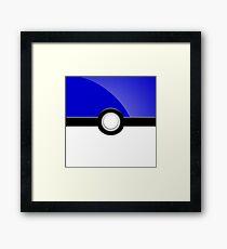 Poke´ Ball - Blue Framed Print