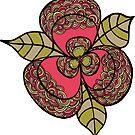 Flower Line Art Sticker by Pip Gerard