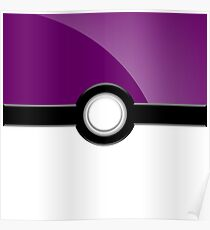 Poke´ Ball - Purple Poster