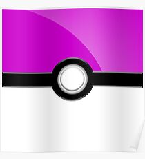 Poke´ Ball - Light Purple Poster