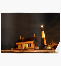 Tybee Island Lighthouse at Night Poster