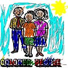 Funny Colored People Drawing by tommytidalwave